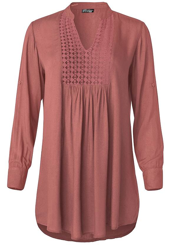 Ghost with background  view Sheer Tunic Cover-Up