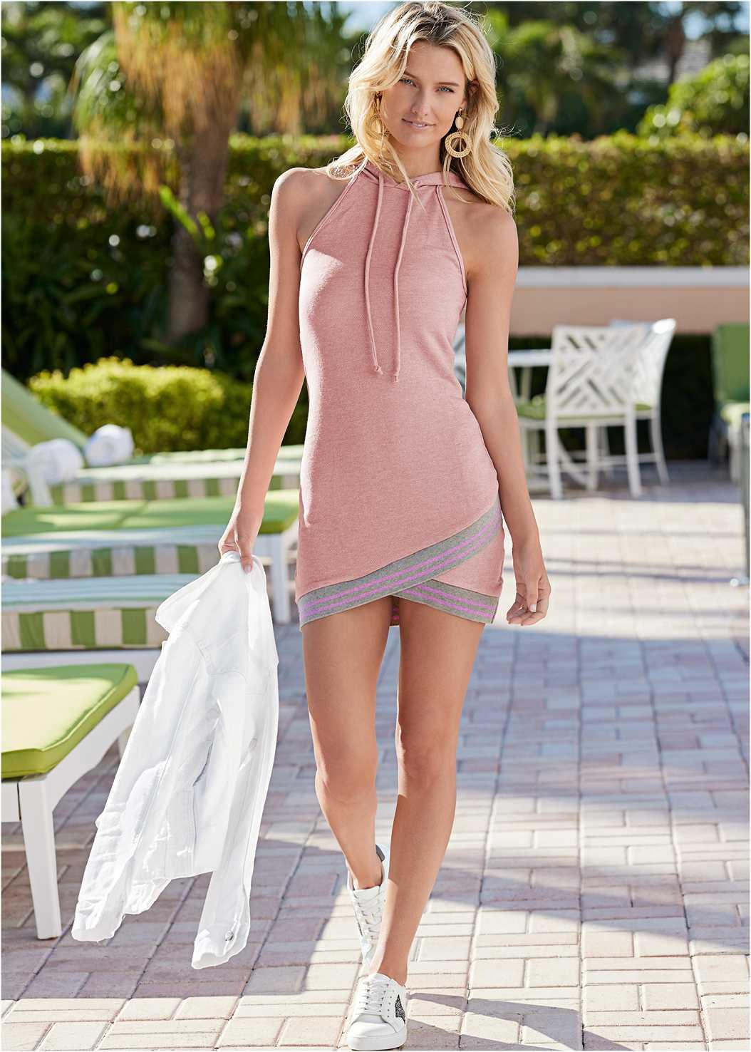 Hooded Detail Dress,Kissable Convertible Bra,Embellished Espadrilles,Beaded Wings Tote Bag,Jean Jacket