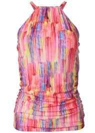 Ghost with background  view Ruched Side Halter Tankini Top