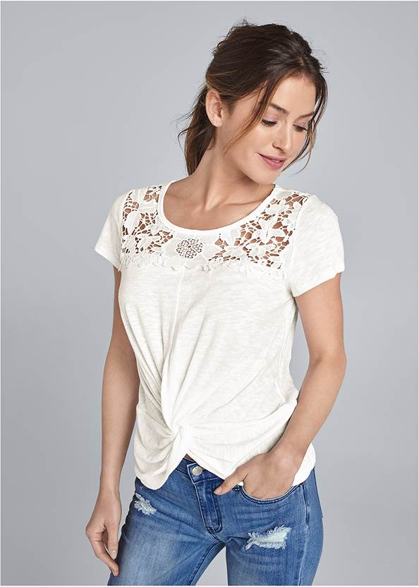 Crochet Knot Front Top,Casual Bootcut Jeans,Extreme Flare Jeans,Western Buckle Wrap Boots,Beaded Drop Earrings