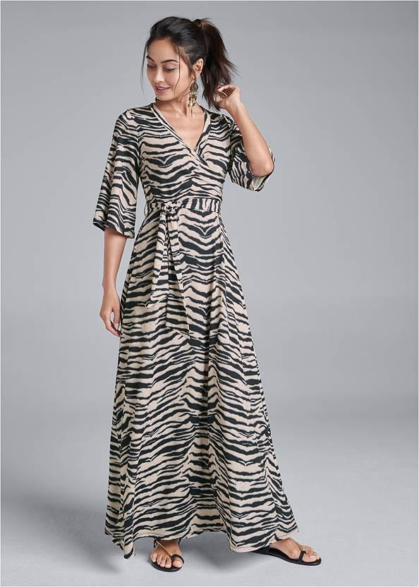 Animal Print Maxi Dress,Chain Strap Sandal,Embellished Sandals,Animal Chain Crossbody Bag