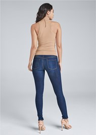 Back View Mock Neck Seamless Top