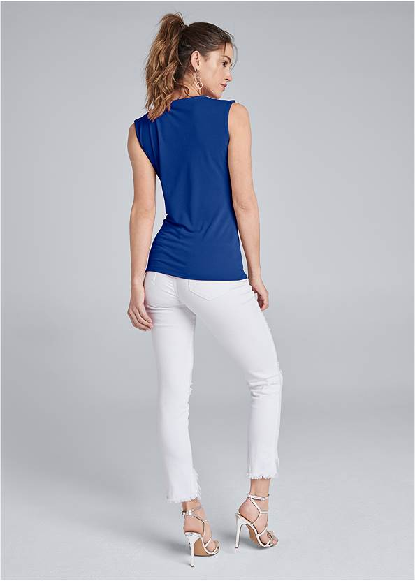 Back View Embellished Strappy Top