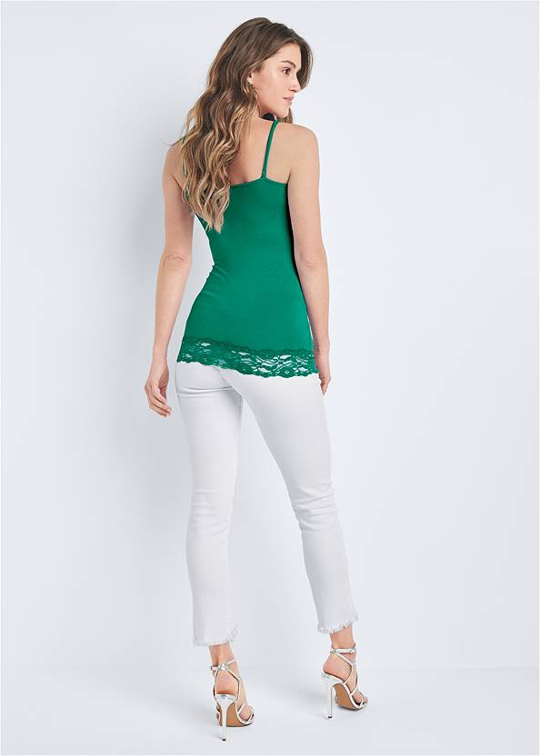 Back View Embellished Lace Tank Top