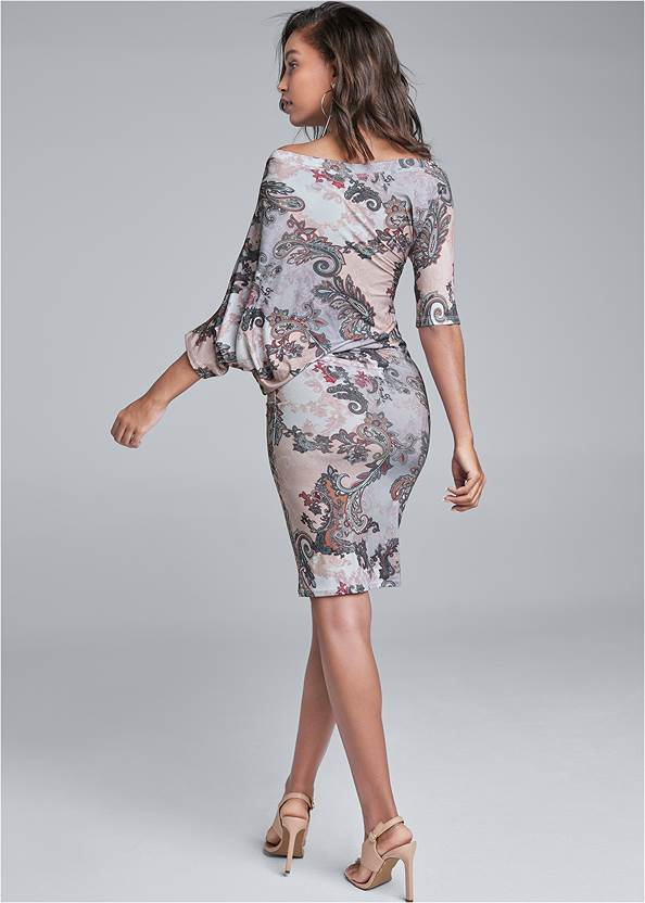Back View Printed Mini Dress