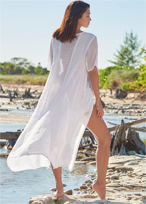 Back View Crochet Duster Cover-Up