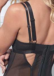 Detail back view Strappy Garter W/ Panty Set