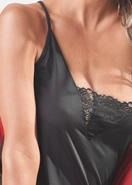 Detail front view Lace Trim Slip