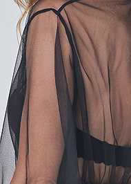 Detail back view Short Robe W/ Wide Sleeves