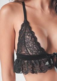 Detail front view Lace Bralette Set