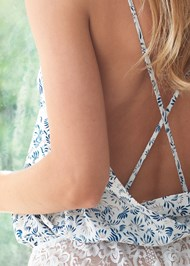 Detail back view Strappy Silky Romper