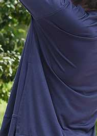 Detail back view Long Sleeve Sleep Shirt