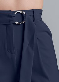 Alternate View Smoothing Belted Side Slit Pants
