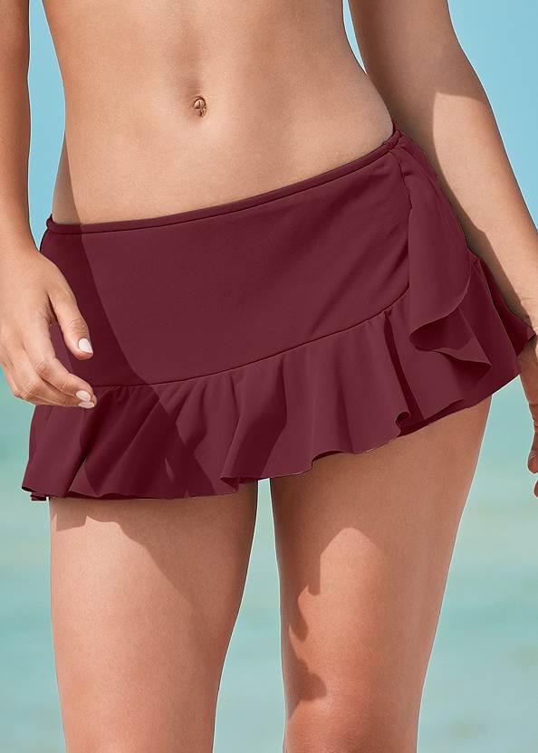 Detail front view Ruffle Swim Skirt