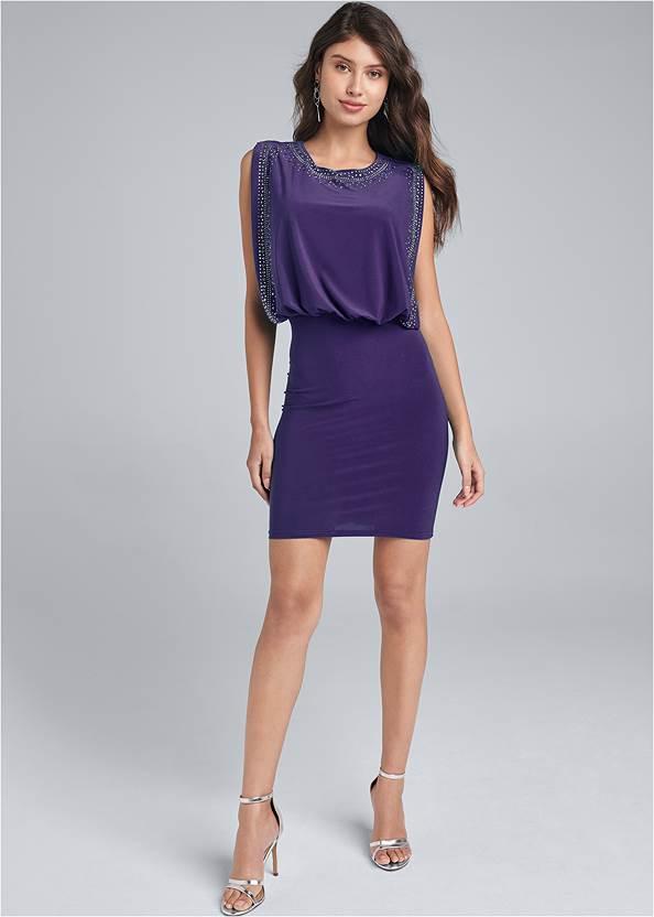 Alternate View Embellished Mini Dress