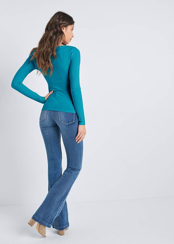 Ghost with background  view Ribbed Casual Top