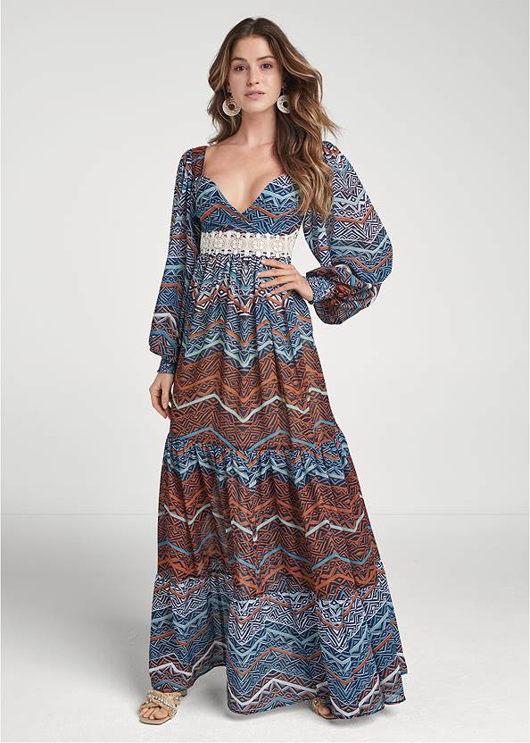 Full front view Printed Maxi Dress