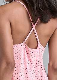 Detail back view Crisscross Sleep Chemise