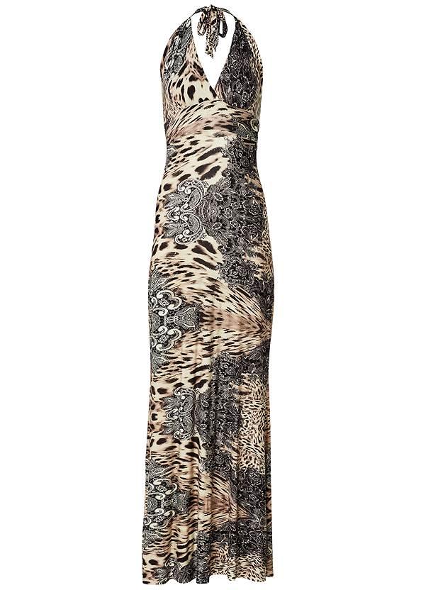 Alternate View Leopard Halter Maxi Dress