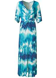 Alternate View Tie Dye Kimono Maxi Dress