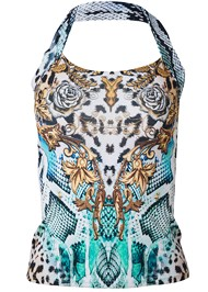 Alternate View Printed Easy Halter Top