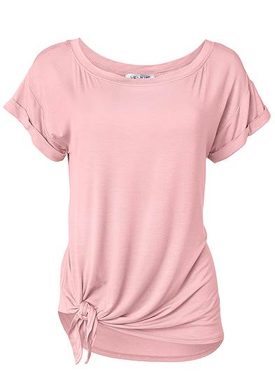 Plus Size Casual Knot Front Top