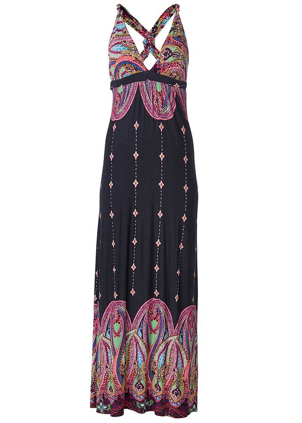 Alternate View Abstract Print Maxi Dress