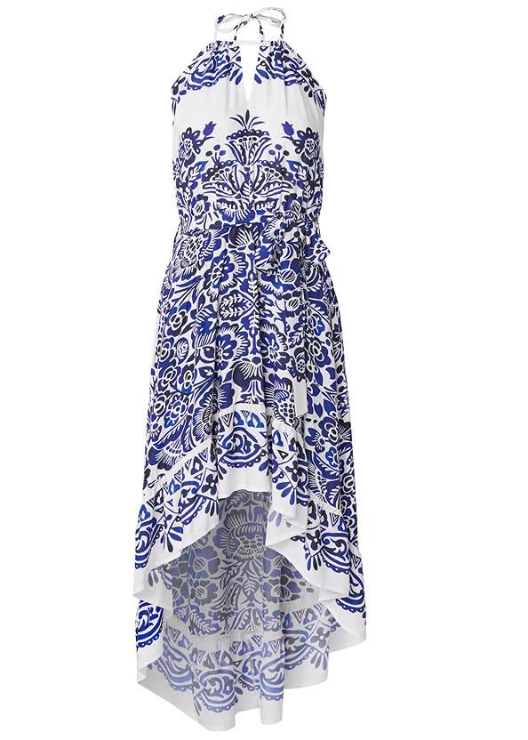 Alternate View Printed High Low Dress
