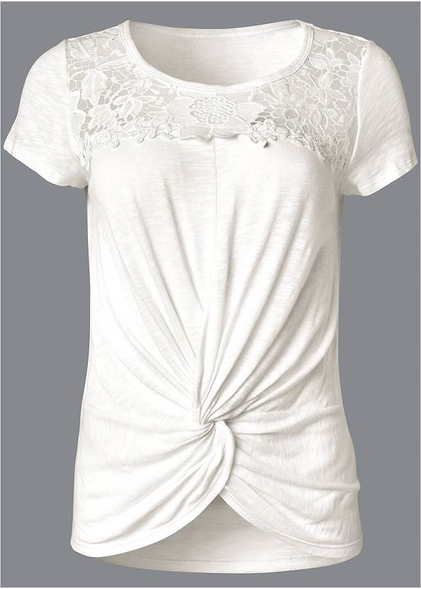 Ghost with background  view Crochet Knot Front Top