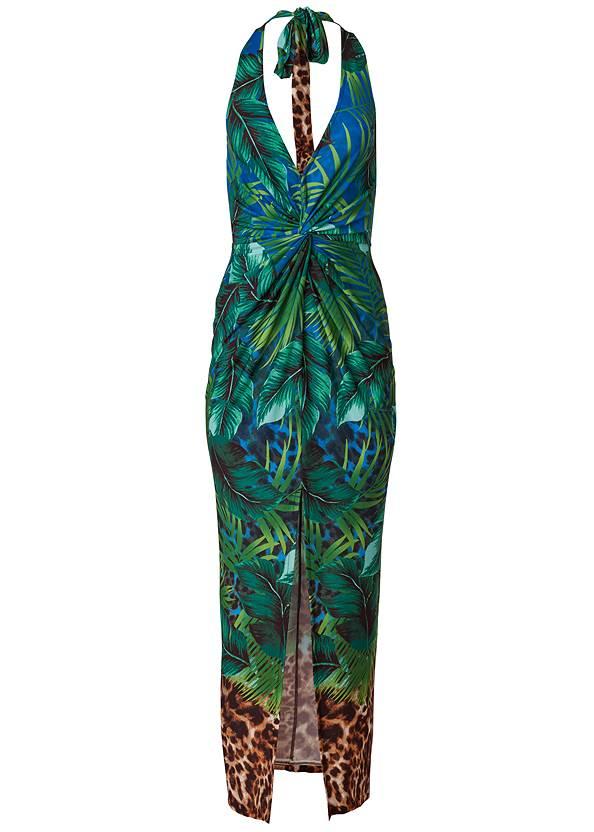 Alternate View Tropical Printed Maxi Dress