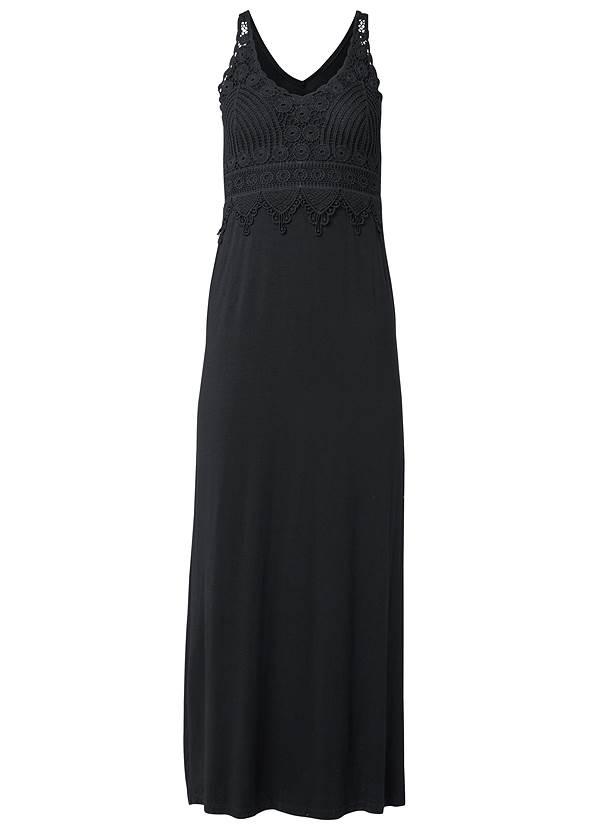 Alternate View Crochet Detail Maxi Dress