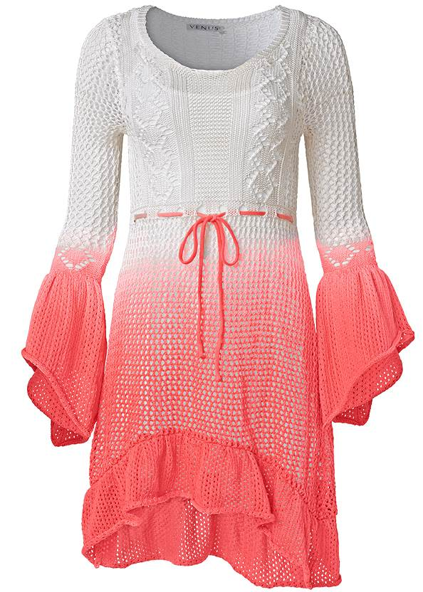 Ghost with background  view Ombre Crochet Mini Dress