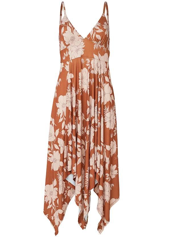 Alternate View Floral Print Midi Dress