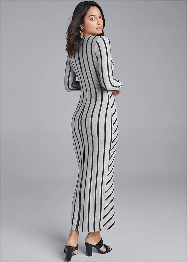 Full back view Knot Front Maxi Dress