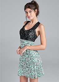Cropped Front View Lace Sleep Chemise