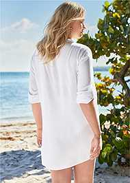 Back View Sheer Tunic Cover-Up