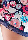 Detail front view Lace Trim Sleep Romper