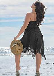 Back View Convertible Fringe Coverup