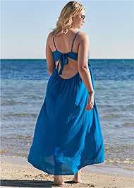 Back View Embroidered Cover-Up Dress