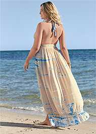 Back View Tie-Dye Cover-Up Dress
