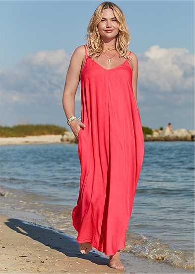 Plus Size Boho Maxi Dress Cover-Up