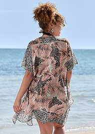 Back View Front Tie Kimono Cover-Up