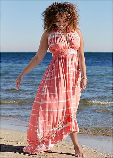 Plus Size Tie-Dye Cover-Up Dress
