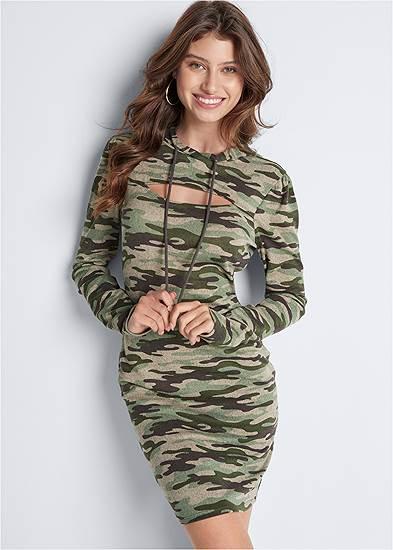 Cozy Hacci Camo Print Dress