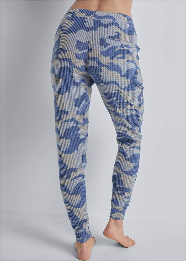 Back View Cozy Waffle Lounge Pant
