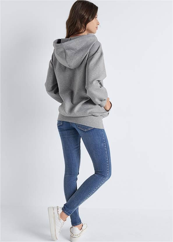 Full back view Chain Neck Sweatshirt