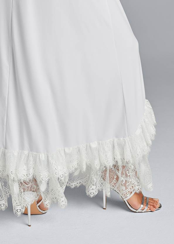 Detail back view High Low Lace Romper