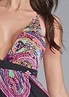 Detail front view Abstract Print Maxi Dress