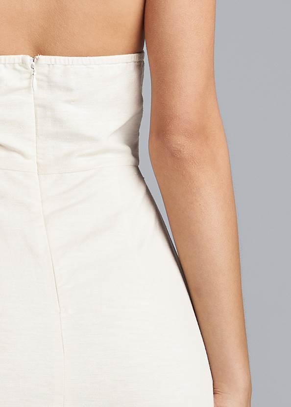 Detail back view Halter Neck Linen Dress
