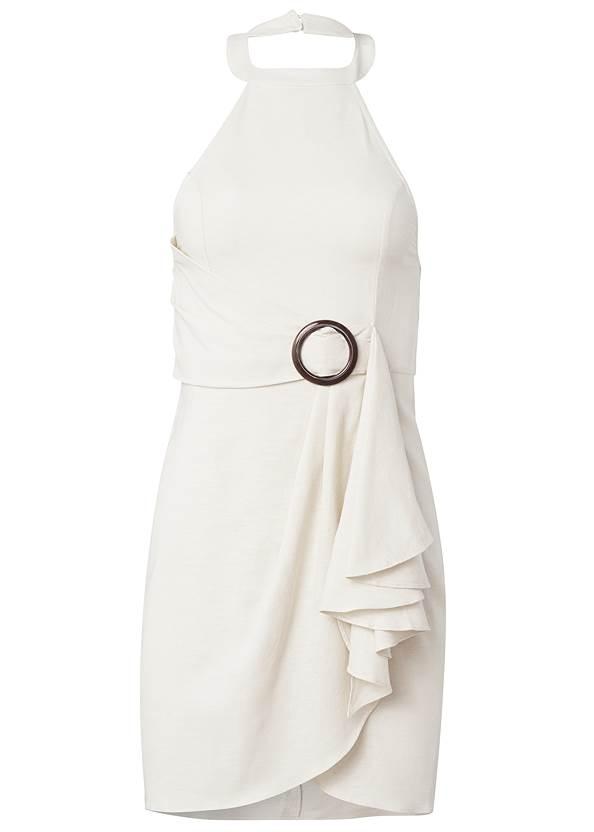 Alternate View Halter Neck Linen Dress